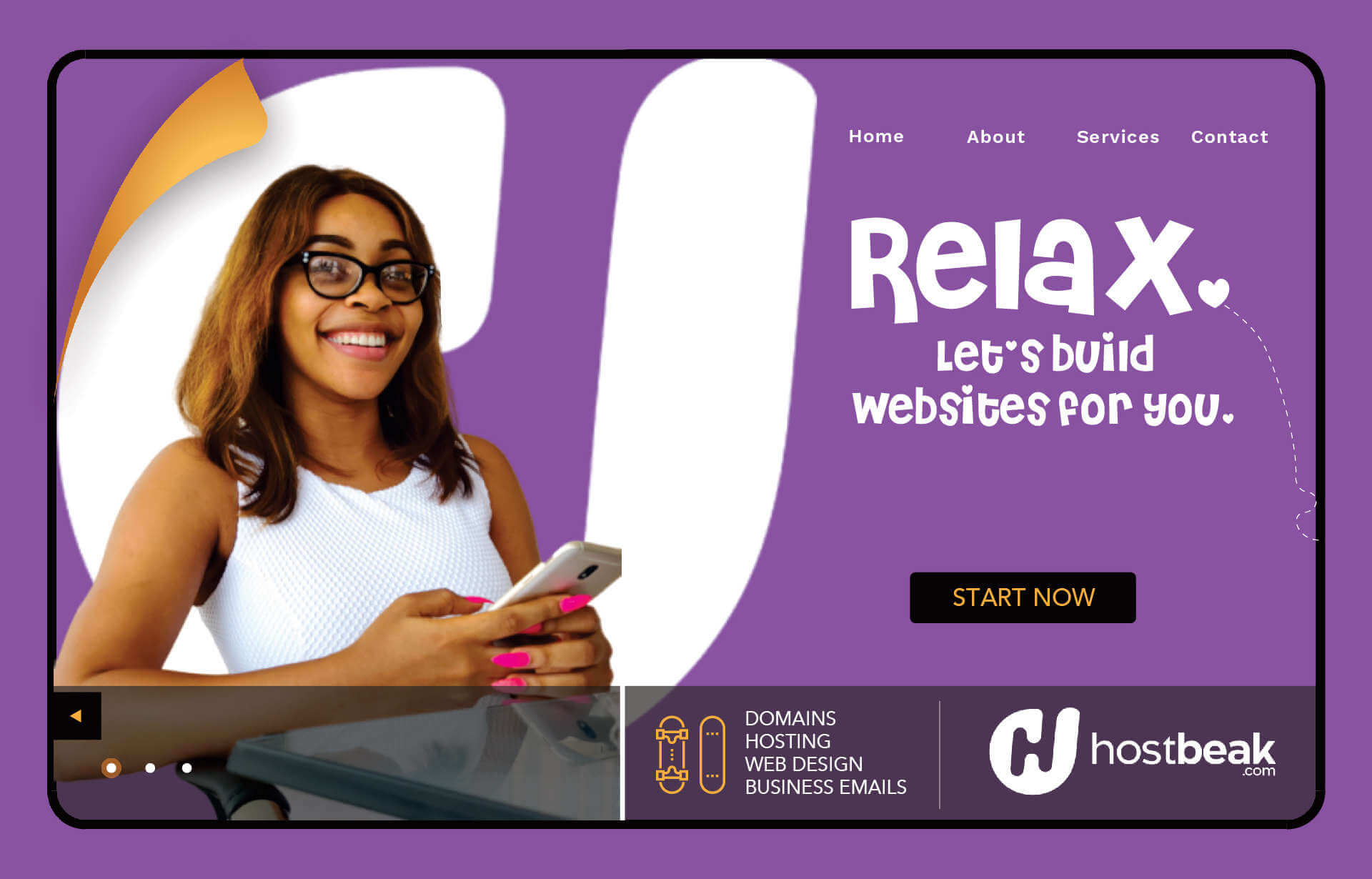 Get a website with emails, domain and hosting